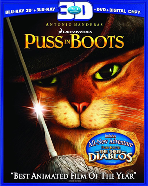 Puss in Boots 3D Blu-ray